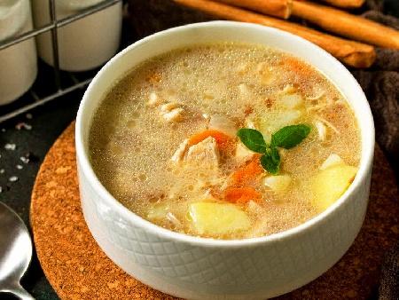 Арабска (ориенталска) пилешка супа с булгур - снимка на рецептата